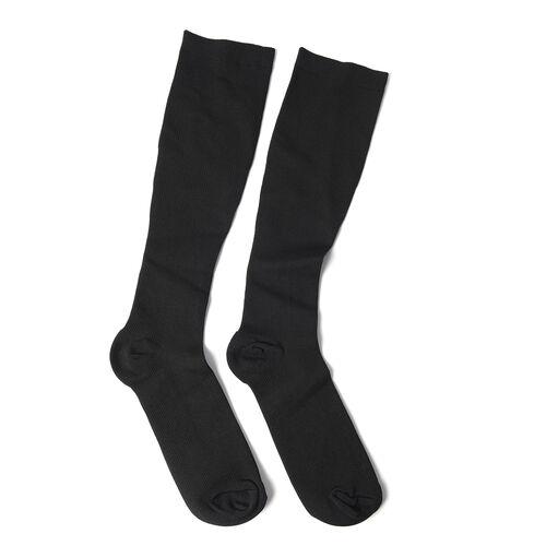 Set of 3 - Copper Fit Socks (Size L/XL), Copper Knee Sleeve (Size XL), Copper Elbow Sleeve (Size XL) - Black