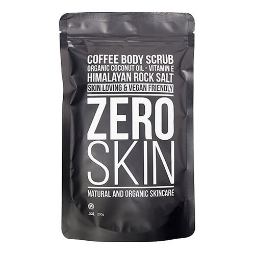 Zero Skin: Coffee Body Scrub, Eye Mask (x 10) & Konjac Face Sponge (With Free Black Face Mask)