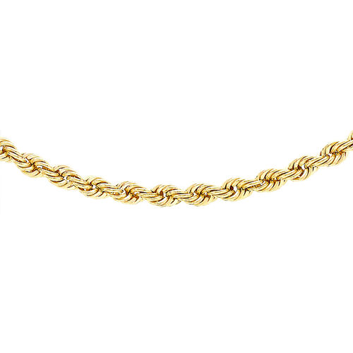 Hatton Garden Close Out Deal- 9K Yellow Gold Rope Necklace (Size 20)