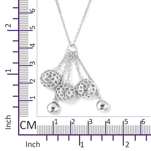 RACHEL GALLEY Rhodium Overlay Sterling Silver Pendant With Chain (Size 20), Silver wt 10.5 Gms.