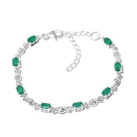 One Time Deal-Verde  Onyx Bracelet (Size 6.5 With 2 inch Extender) in Sterling Silver 3.080 Ct.