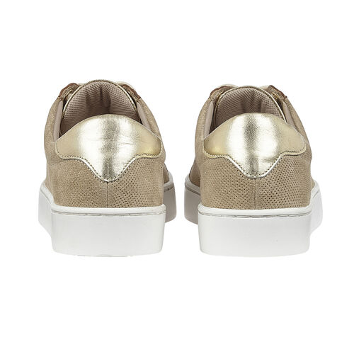 Lotus Stressless Leather Amsterdam Lace-Up Trainers (Size 3) - Natural & Leopard
