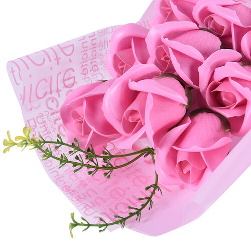 Bouquet of flowers -  Imitation Soap Rose in a Box - Pink
