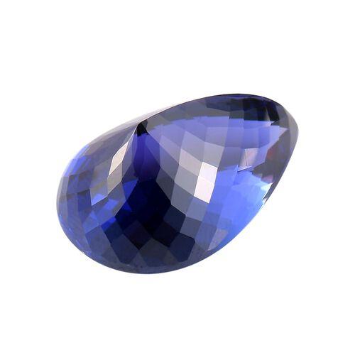 IGI Certified AAAA Tanzanite Pear Cut 22.58x15.29x11.46mm 26.65 Cts