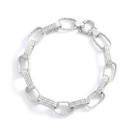 Viale Argento Sterling Silver Link Bracelet (Size 8)