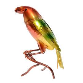 ROLSON Glazed Yellow/Green Parrot Garden Ornament