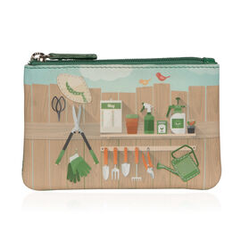 Mala Super Soft Genuine Leather Garden Cards and  Coin Purse (Size 12 x 8 Cm)