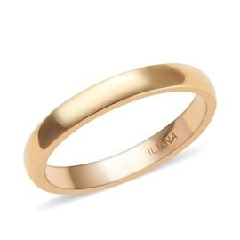 ILIANA Wedding Band Ring in 18K Yellow Gold 3.15 Grams