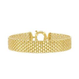 Italian Made - 9K Yellow Gold Bismark Bracelet (Size 7.5), Gold Wt. 7.80 Gms