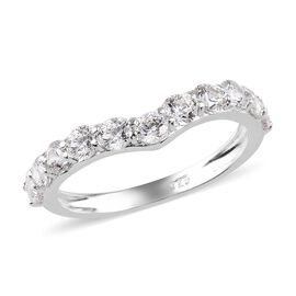J Francis Made with SWAROVSKI ZIRCONIA Wishbone Ring in Silver