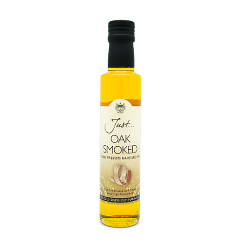Just Rapeseed Oil 6x250 ml (1 x Rapeseed, 1 x Roasting, 1 x Chilli, 1 x Oak-smoked, 1 x Basil, 1 x Stir-fry)