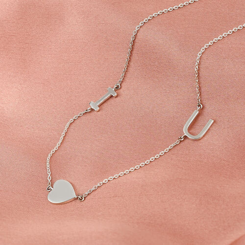 Personalise Two Alphabet Stunning Necklace in Silver