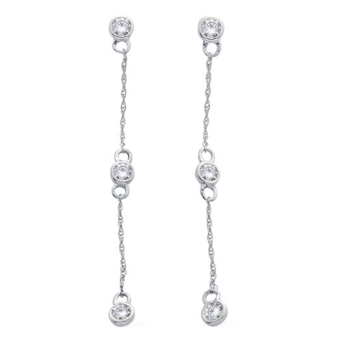 9K White Gold SGL Certified Diamond (Rnd) (I3/ G-H) Constellation Earrings (with Push Back) 0.500 Ct.