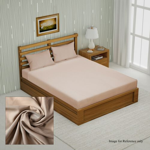 4 Piece Set - 100% Bamboo 1 Flat Sheet (230x265 Cm), 1 Fitted sheet (140x190+30 Cm), and 2 Pillowcas