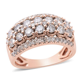NY Close Out Deal -14K Rose Gold Diamond (Rnd) (I1-I2/G-H) Ring 1.50 Ct.