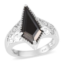 Elite Shungite Ring in Platinum Overlay Sterling Silver 1.50 Ct.