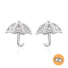 RACHEL GALLEY - Natural Cambodian Zircon Umbrella Stud Earrings (with Push Back) in Rhodium Overlay