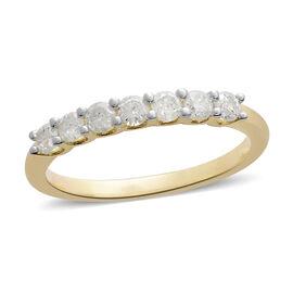 9K Yellow Gold SGL Certified Diamond (Rnd) (I3/G-H) Ring 0.50 Ct.