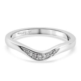 RHAPSODY 950 Platinum IGL Certified Diamond (E-F/VS) Ring 0.05 Ct.