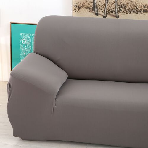 Solid Colour Washable Stretch Sofa Cover (Size 90-145 Cm) - Dark Grey