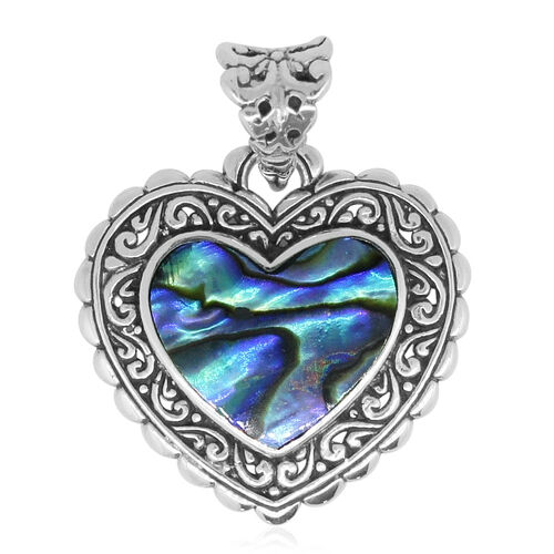 Royal Bali Collection Abalone Shell (Hrt) Pendant in Sterling Silver