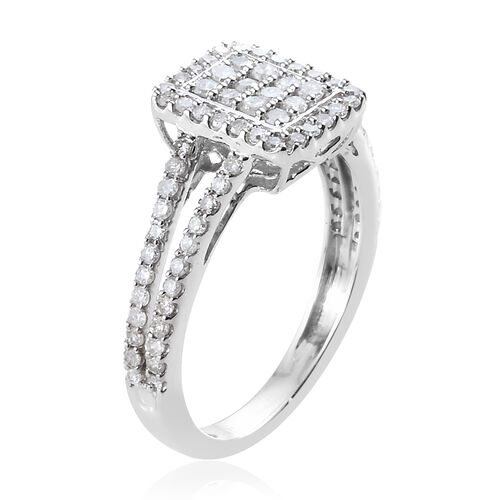 Limited Edition 0.50 Carat SGL Certified Diamond Ring in 9K White Gold (I3/G-H)