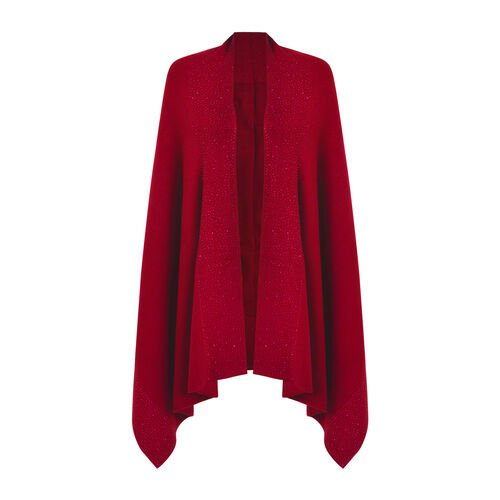Kris Ana Scattered Shawl One Size (8-16) - Red