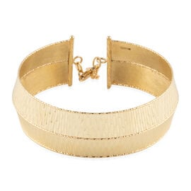 Italian Made 9K Yellow Gold Diamond Cut Bangle (Size 7 with 1 inch Extender), Gold wt. 11.45 Gms.