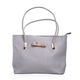 New Season - Super Soft Handbag With (29 x 23 x 9 Cms) - Grey