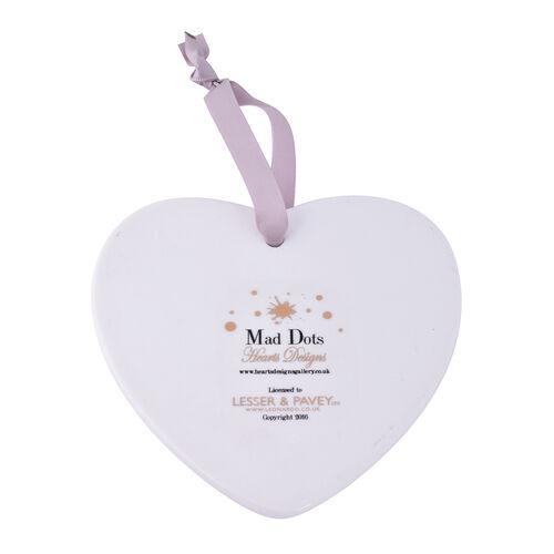 Mad Dots Heart Plaque