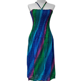 Free Size Blue and Multicolour Dress (Size 54x95 Cm)
