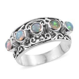 Artisan Crafted Ethiopian Welo Opal Ring in Sterling Silver