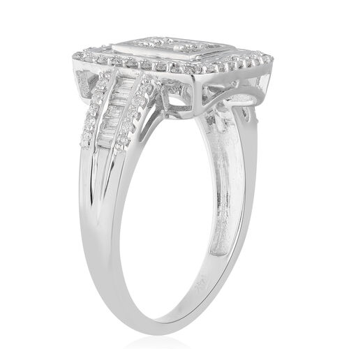 Limited Edition- 14K White Gold SGL Certified Diamond (I1-12/G-H) Ring 1.00 Ct.