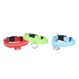 Set of 3 Adjustabe LED Pet Collars (Size XL,55-50cm) - Red, Blue and Green