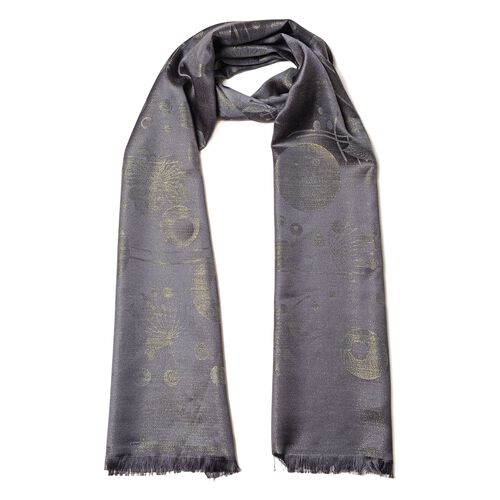 Black Colour Air Bubble Pattern Scarf (Size 180x70 Cm)