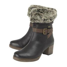 Lotus Charmaine Heeled Mid-Calf Ladies Boots (Size 7) - Brown