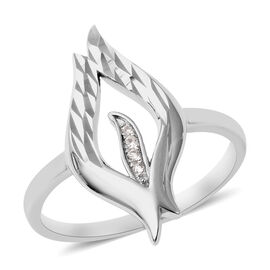 LucyQ Flame Collection - Natural Cambodian Zircon Ring in Rhodium Overlay Sterling Silver