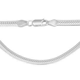 Italian Made Herringbone Chain in Sterling Silver 20 Inch