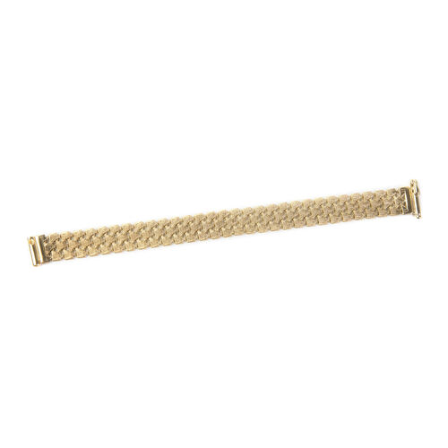 Limited Edition- Hatton Garden Close 9K Yellow Gold Three Row Crochet Style Matt-Finish Bracelet (Si