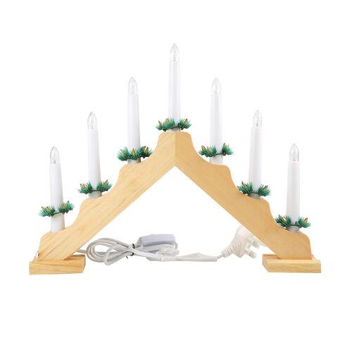 Pine Wooden Candle Bridge (Size 40x33x5cm)