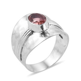 Royal Bali Collection Galileia Blush Pink Quartz (Ovl) Ring in Sterling Silver 1.820 Ct. Silver wt 5.66 Gms.