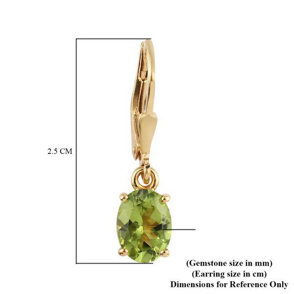 MP Hebei Peridot (Ovl) Lever Back Earrings in 14K Gold Overlay Sterling Silver 2.70 Ct.
