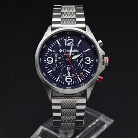Columbia Canyon Ridge Navy Chronograph Stainless Steel Bracelet Watch