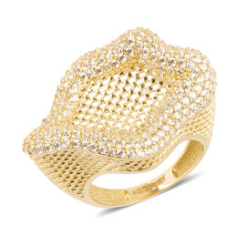Ottoman Treasure 9K Yellow Gold Ring with AAA Natural Cambodian White Zircon 1.000 Ct., Gold wt 4.90