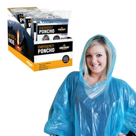 Emergency Poncho in Blue Colour (Size Free) (Length 100cm)