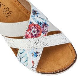 Lotus White Ravenna Mule Sandals