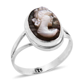 Royal Bali Collection Cameo (Ovl 14x10 mm) Ring in Sterling Silver 3.170 Ct.