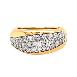 NY Close Out 14K Yellow Gold White Diamond (I1/12 G-H) Ring 1.00 Ct, Gold  wt. 5.80 Gms