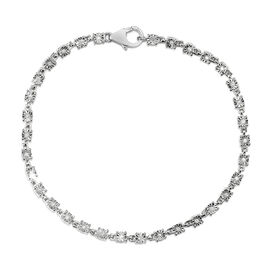 Diamond Tennis Design Bracelet in Sterling Silver 7.75 Inch