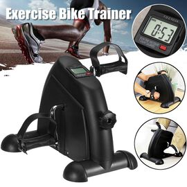 Mini Pedal Exercise Bike (Size 40x34x31 Cm) (1xAAA Battery not Included) - Black